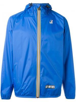 Куртка-ветровка Claude K-Way X Les (Art)Ists. Цвет: синий