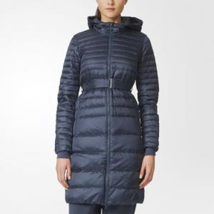 Утепленное пальто Timeless  Athletics adidas. Цвет: синий