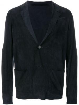 Пиджак с карманами спереди Salvatore Santoro. Цвет: синий