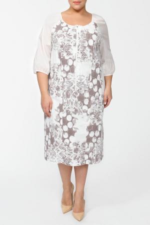Платье Terra. Цвет: коричневый