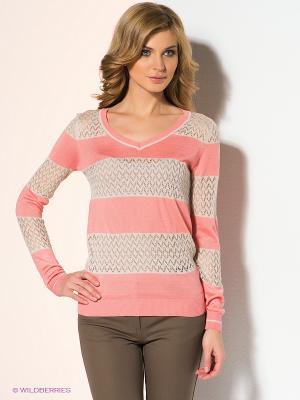 Пуловер Vis-a-vis. Цвет: розовый, серо-коричневый