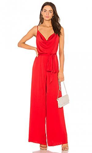 Пляжный костюм с широкими брюками ellil THE JETSET DIARIES. Цвет: красный