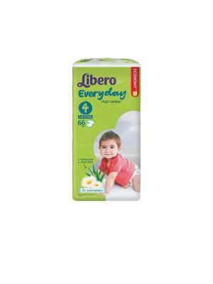 Libero Подгузники детские Every Day макси 7-18кг 66шт упаковка мега. Цвет: зеленый