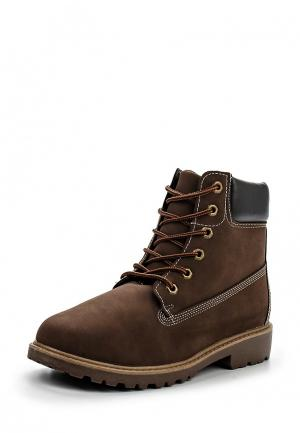 Ботинки YMD. Цвет: коричневый