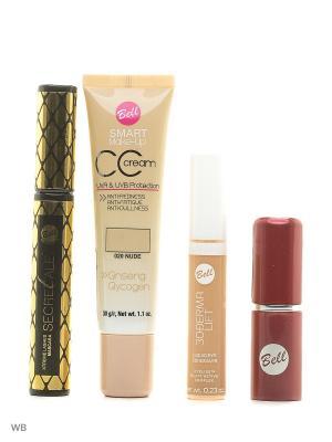 Тушь secretale xtreme lashes mascara, помада lipstick, флюид cс cream smart make-up, корректор Bell. Цвет: черный, бежевый, коричневый, светло-бежевый