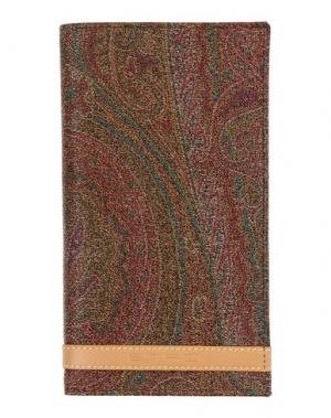 Бумажник ETRO. Цвет: хаки