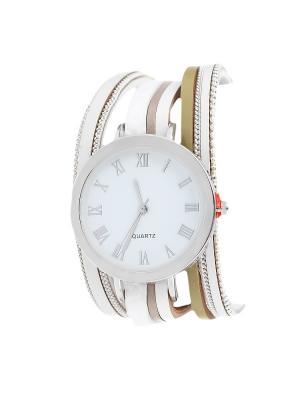 Браслет-часы Olere. Цвет: серебристый, бежевый, белый