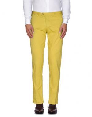 Повседневные брюки ROBERTO PEPE. Цвет: желтый
