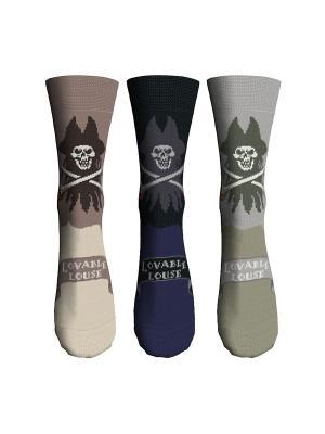 Носки 3 пары Master Socks. Цвет: светло-коричневый, светло-серый, черный