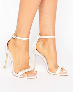 Boohoo Легкие босоножки на каблуке Bridal. Цвет: белый