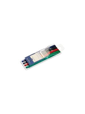 Набор ручек на масляной основе SoftWrite. JOY, 4 цвета Bruno Visconti. Цвет: синий, зеленый, красный, черный