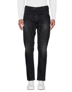 Джинсовые брюки GREY DANIELE ALESSANDRINI. Цвет: черный