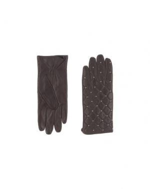 Перчатки SANDRO. Цвет: темно-коричневый