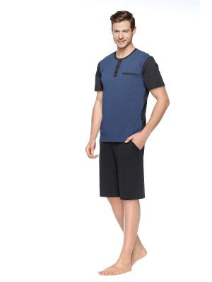 Пижама Kom. Цвет: черный, синий
