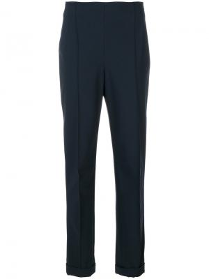 Строгие брюки Salvatore Ferragamo. Цвет: синий