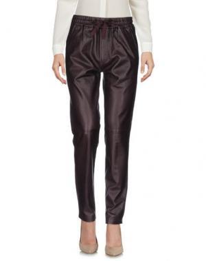 Повседневные брюки LEON & HARPER. Цвет: баклажанный