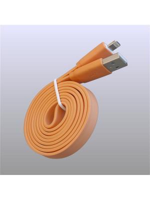 Usb кабель Pro Legend плоский Iphone 5, 6s, 8 pin, 1м,  оранжевый. Цвет: оранжевый