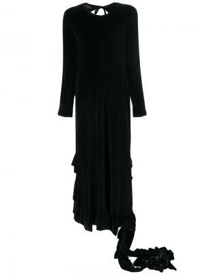 Присборенное платье с вырезом Barbara Bologna. Цвет: чёрный