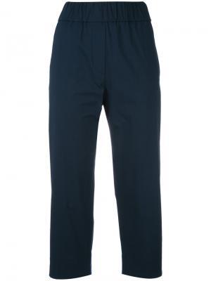 Укороченные брюки с эластичным поясом Alberto Biani. Цвет: синий