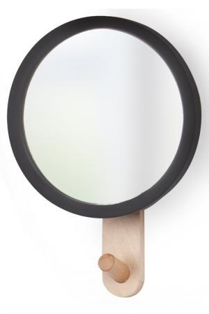 Зеркало с вешалкой Hub UMBRA. Цвет: бежевый