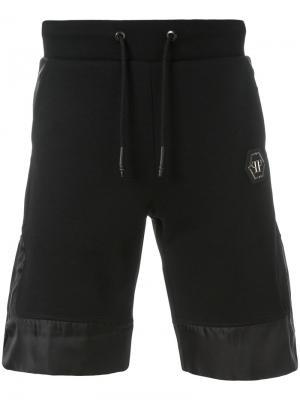 Спортивные шорты с контрастными полосками Philipp Plein. Цвет: чёрный