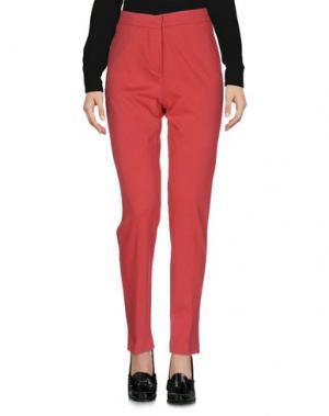 Повседневные брюки E-GÓ. Цвет: коралловый