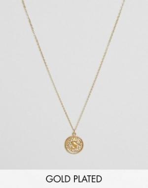 Ottoman Hands Ожерелье с инициалом S на подвеске. Цвет: золотой