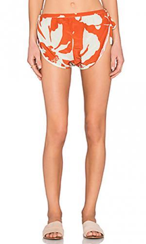 Тренировочные шорты ADRIANA DEGREAS. Цвет: оранжевый
