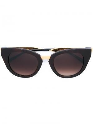 Солнцезащитные очки Snobby Thierry Lasry. Цвет: коричневый