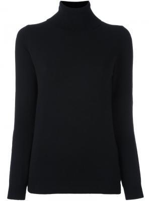 Кашемировый свитер с высокой горловиной Allude. Цвет: чёрный
