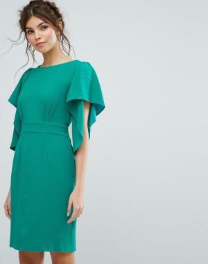 Closet London Платье миди. Цвет: зеленый