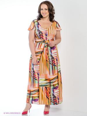 Платье Silver-String. Цвет: персиковый, белый, салатовый, фиолетовый, красный, горчичный