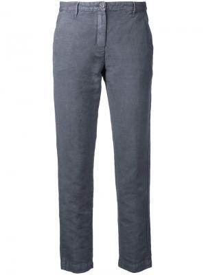 Укороченные брюки Massimo Alba. Цвет: серый