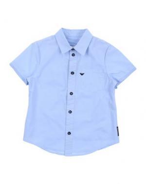 Pубашка ARMANI JUNIOR. Цвет: лазурный