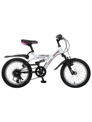 Велосипед 16 DART 5-скор. NOVATRACK. Цвет: белый