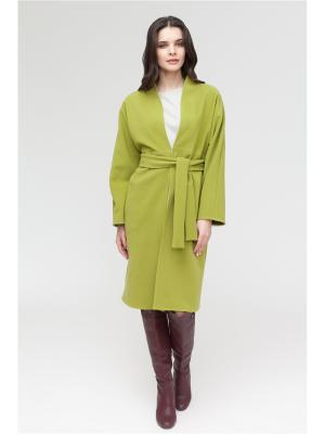 Пальто Lucky Move. Цвет: оливковый