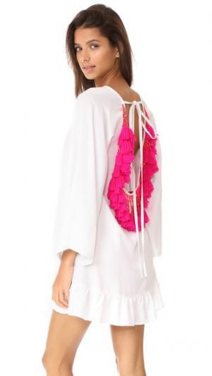 Короткое пляжное платье Indiana SUNDRESS. Цвет: розовый