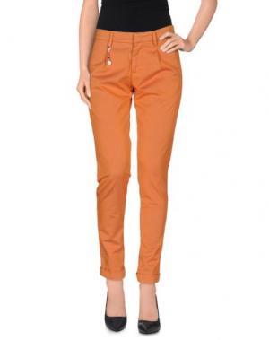 Повседневные брюки YAN SIMMON. Цвет: оранжевый