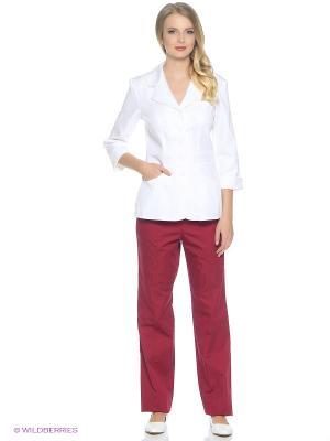 Брюки медицинские Med Fashion Lab. Цвет: темно-бордовый