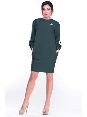 Платье Dioni. Цвет: темно-зеленый