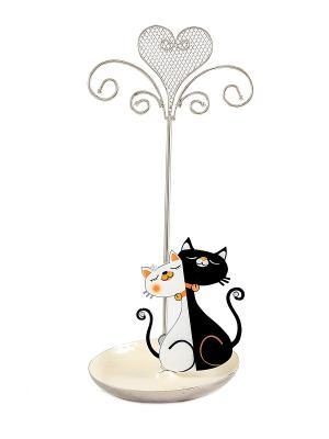 Подставка для ювелирных украшений Кошечка Русские подарки. Цвет: серебристый