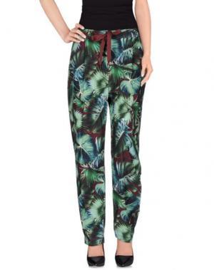 Повседневные брюки OBLÒ. Цвет: темно-зеленый