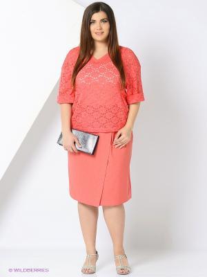 Комплект одежды Amelia Lux. Цвет: коралловый