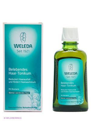 Укрепляющее средство для роста волос с розмарином, 100 мл Weleda. Цвет: зеленый