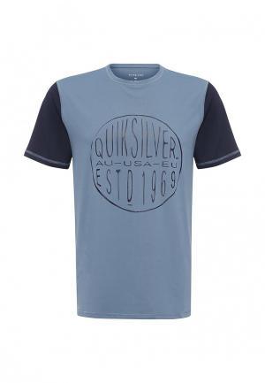 Футболка спортивная Quiksilver. Цвет: синий