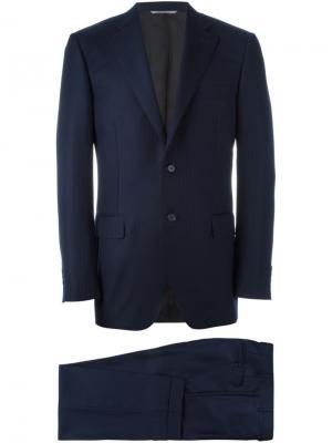 Полосатый костюм-двойка Canali. Цвет: синий