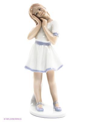 Фигурка Девочка-кокетка Pavone. Цвет: белый, сиреневый
