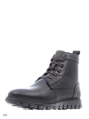 Ботинки WOODS. Цвет: темно-коричневый