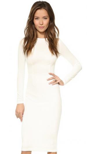 Платье с длинным рукавом 5th & Mercer. Цвет: белый