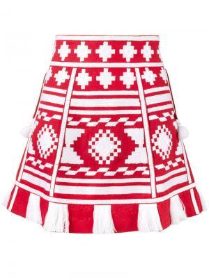 Мини-юбка Croatia Vita Kin. Цвет: красный